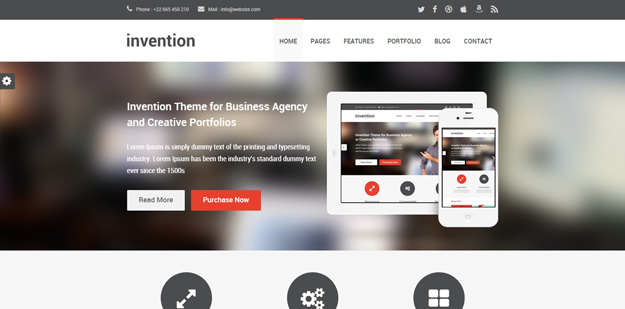 Best business website templates for your next projects code geekz 6 invention fbccfo Images