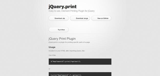 8 Best jQuery Print Page Plugins | Code Geekz