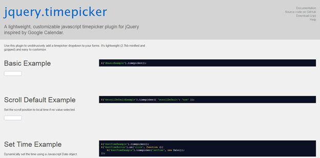 16款最佳的 jQuery Time Picker 时间选择插件