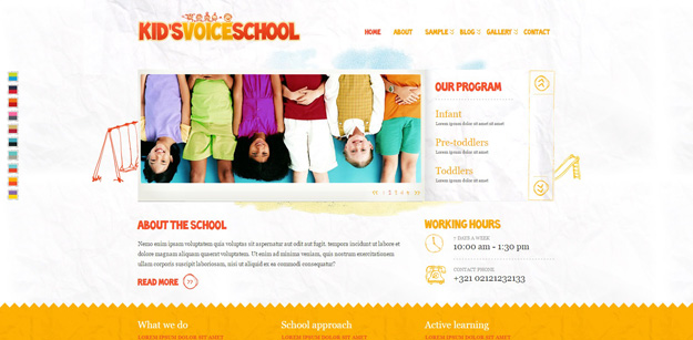 Kids Voice School Is A Beautifully Designed HTML Template For Your Child Care But It Would Suit Any Childrens Art Craft Or Creative