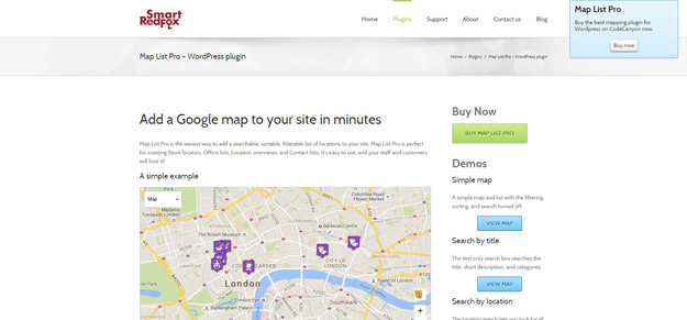An Easy To Use Fully Featured Google Map And Location Listing Wordpress Plugin Map List Pro For Wordpress Lets You Quickly Display Your Locations In A