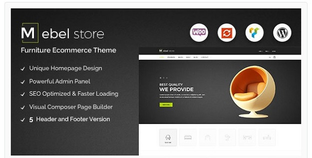 Best wordpress furniture themes code geekz for Mobilia wordpress theme