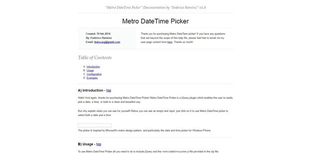 metro date time picker