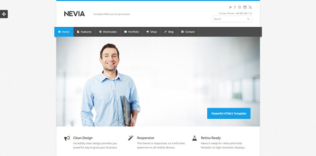 Best business website templates for your next projects code geekz 3 nevia friedricerecipe Choice Image