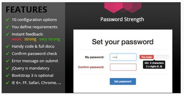 15 jQuery Password/Strength Meter Plugins | Code Geekz