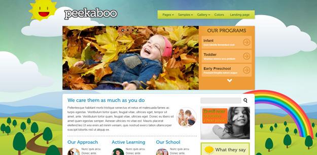 daycare website templates