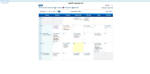 the apphp calendar is a powerful php calendar script that may be ...