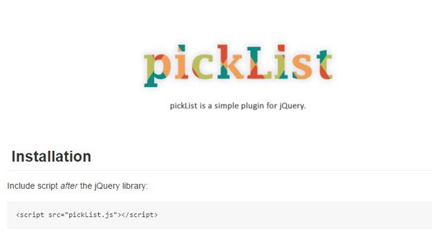 picklist