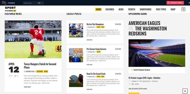 Top WordPress Sports Themes | Code Geekz