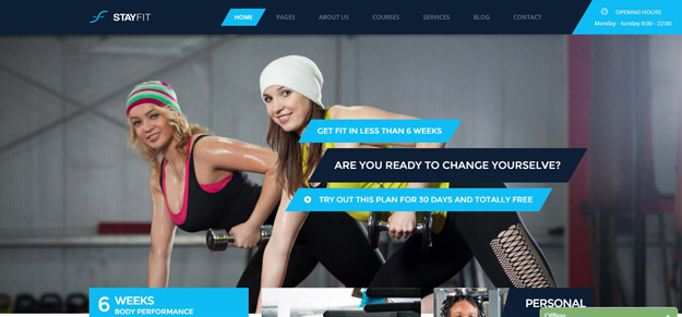 Stayfit Is A HTML Template For Heallth, Sports, Gym And Fitness Websites.  It Is A Highly Suitable Template For Fitness Companies As Well As Gyms Or  Sport ...  Fitness Templates Free