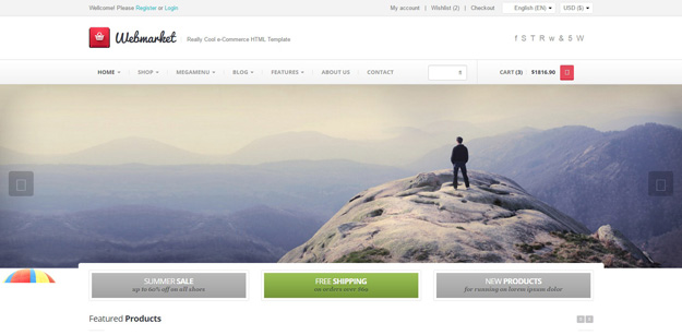 Webmarket html template for online shop | web design | pinterest.